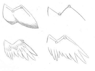 ак нарисовать крылья фото 2