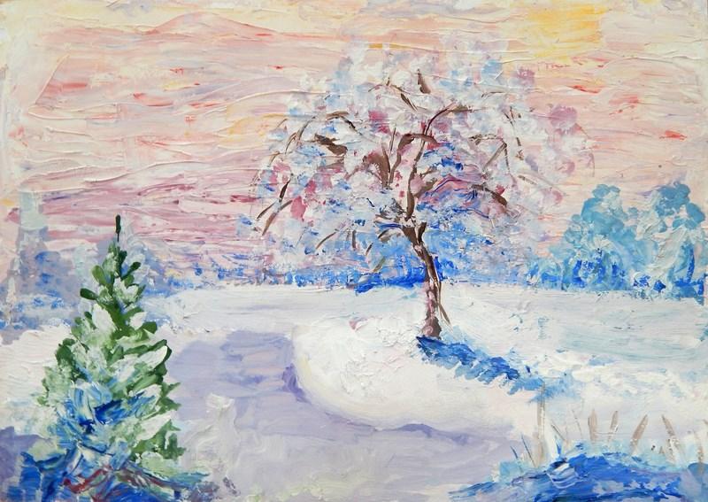 этому рисунок зимнего пейзажа гуашью отделка квартир