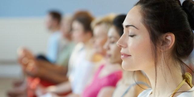 Meditating people