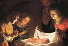 """""""L'Adorazione del bambino"""", Gherardo delle Notti, Galleria degli Uffizi"""