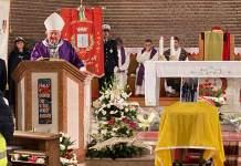 Mons. Verucchi all'omelia dei funerali di Matteucci