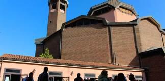 L'esterno della chiesa di San Pier Damiano