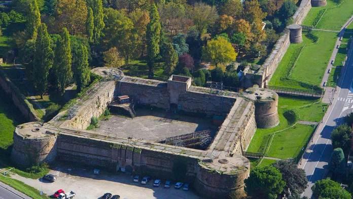 Veduta aerea della Rocca Brancaleone