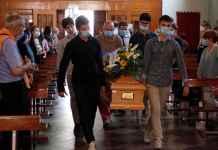L'arrivo della bara di Gaetano Storace nella chiesa di San Biagio