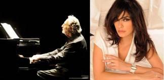 Luis Bacalov e Maria Grazia Cucinotta