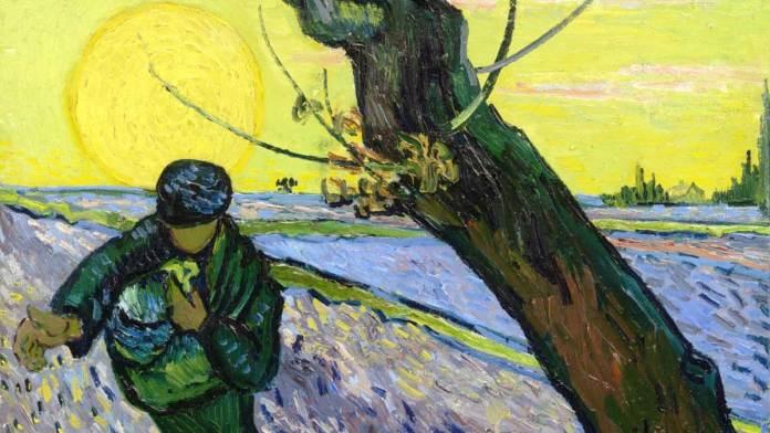 """Vincent Van Gogh (1888) """"Il seminatore"""" olio su tela Amsterdam, Van Gogh Museum"""