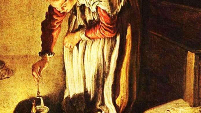 """Domenico Fetti (1618 -1622 circa) """"La parabola della dracma perduta"""" (particolare) Dresda, Gemäldgalerie"""