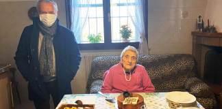 Il sindaco Massimo Medri con Giuseppina Romboli