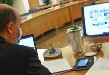 Un momento del Consiglio permanente Cei, in modalità on line