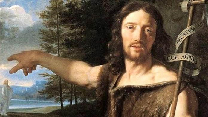 Philippe de Champaigne (1645) San Giovanni Battista (particolare). Olio su tela Musée des Beaux-Arts, Grenoble