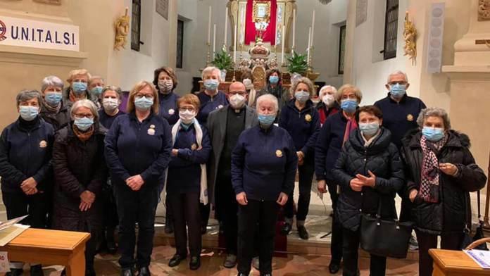 Il gruppo Unitalsi al termine della Santa Messa al Santuario dell'Olmo