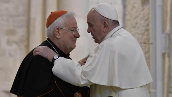 Il cardinale Bassetti con papa Francesco