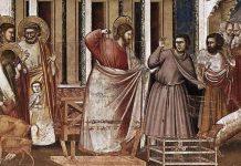 Giotto di Bondone (1303-1305) Cacciata dei mercanti dal Tempio, particolare Padova, cappella degli Scrovegni. affresco