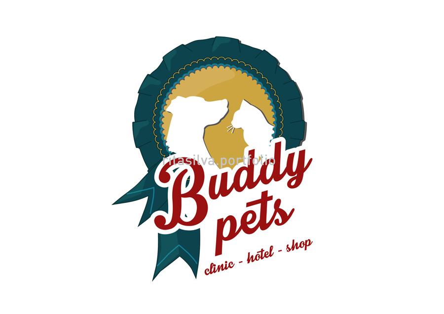 Buddy Pets Graphic Design Logo