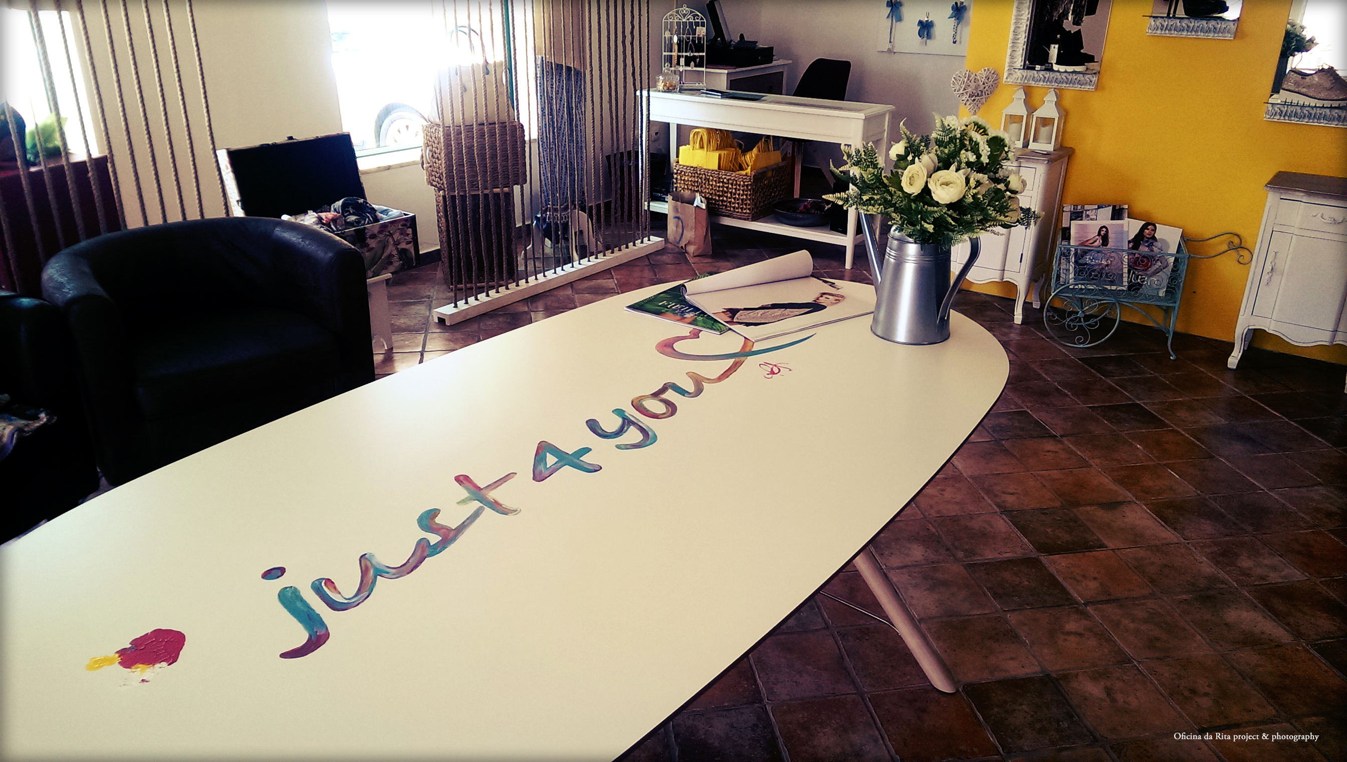 """Table Illustration for """"Just4you"""" store"""