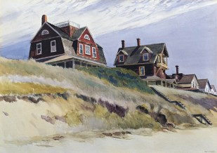 Edward Hopper, Cottages at Wellfleet, 1933, watercolor on paper, Private Collection