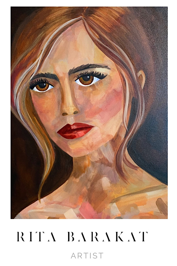 original oil painting Rita Barakat