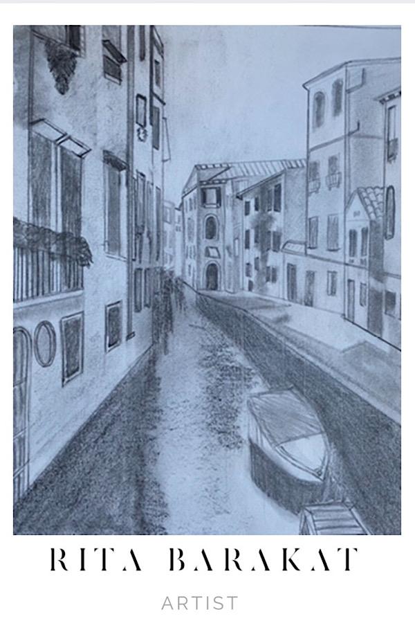 Venice Sketch Practice by Rita Barakat