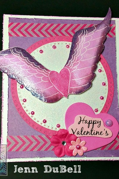 Wings of Love Valentine Card
