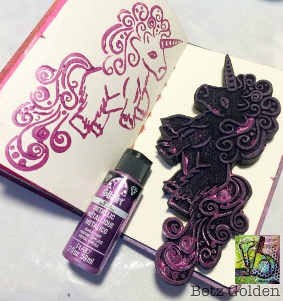 unicorn stamp by Rita Barakat