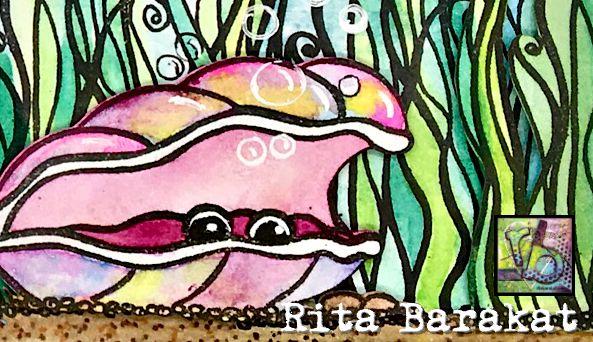 mermaid themed stamps RitaBarakat.com