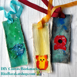 DIY Canvas Bookmarks kit RitaBarakatshop
