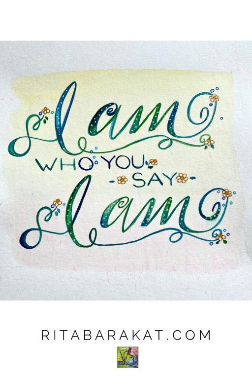 """An excerpt from the devotional """"I am who you say I am"""" by Rita Barakat(believing lies about ourselves)"""