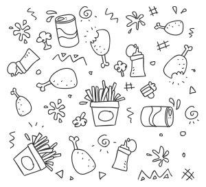 set, chalk out, scribble