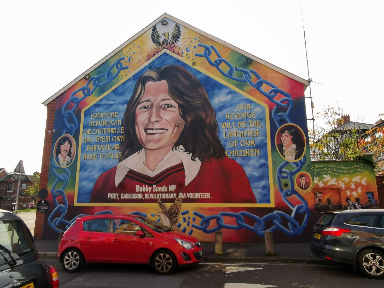 Il murales di Bobby Sand
