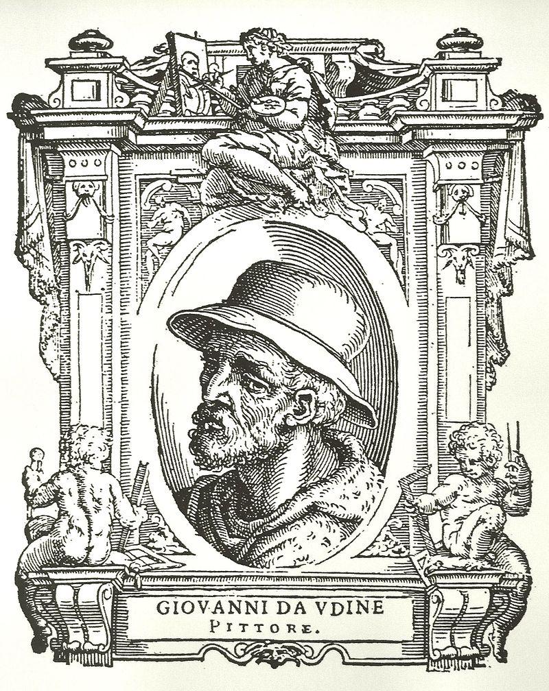 Giovanni da Udine raffigurato ne Le Vite del Vasari