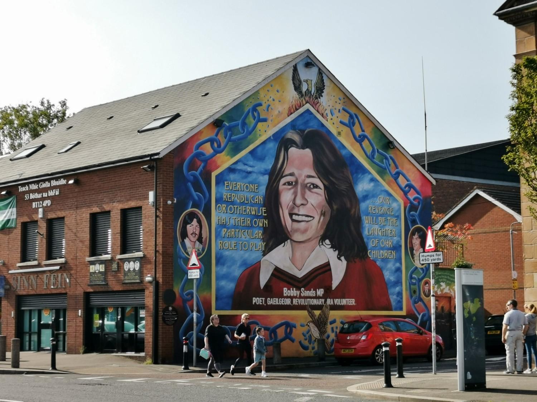 Il murale dedicato a Bobby Sands