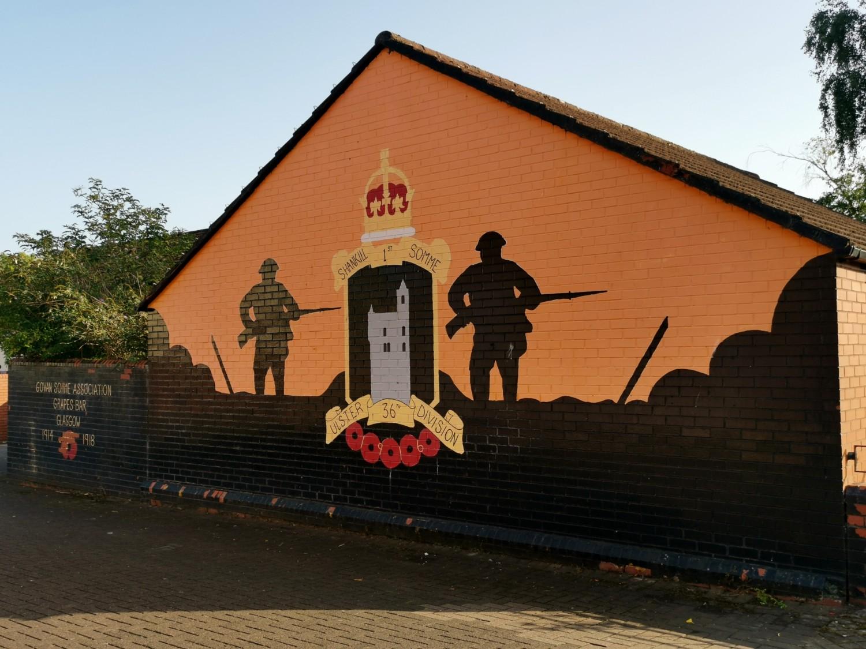 Murale nel quartiere di Shankill Road
