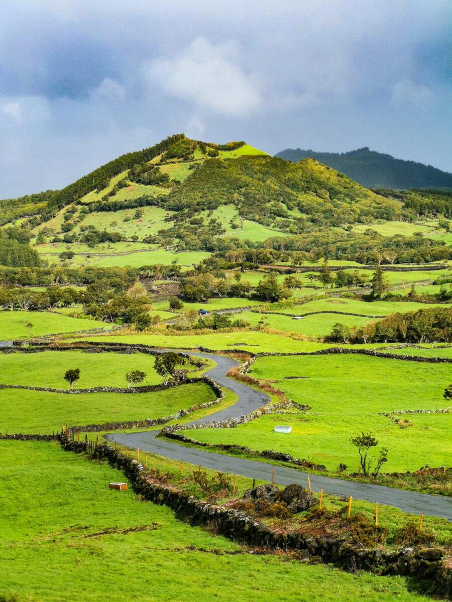 Paesaggio della zona est dell'isola di Pico