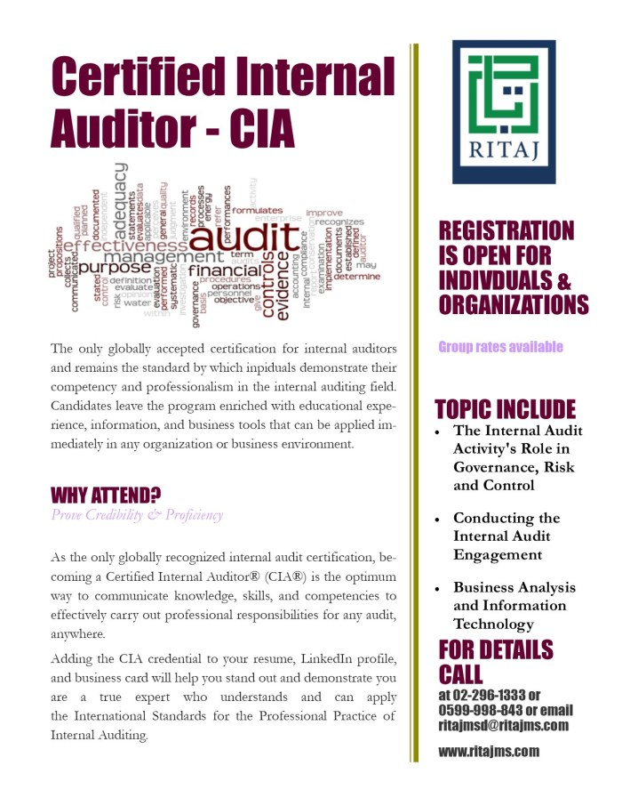 Certified Internal Auditor – CIA 5