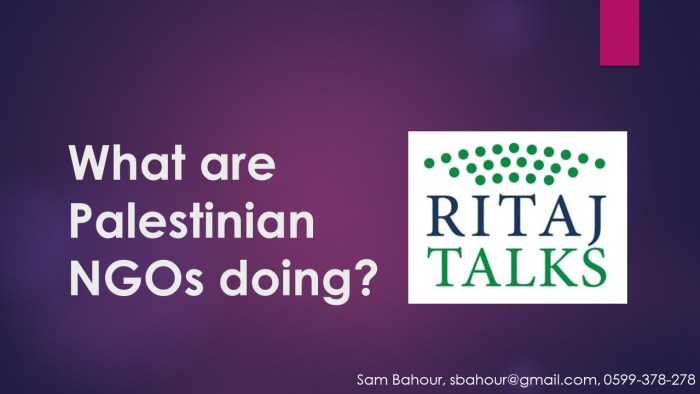 RITAJ Talk - Sam Bahour - PPT 1