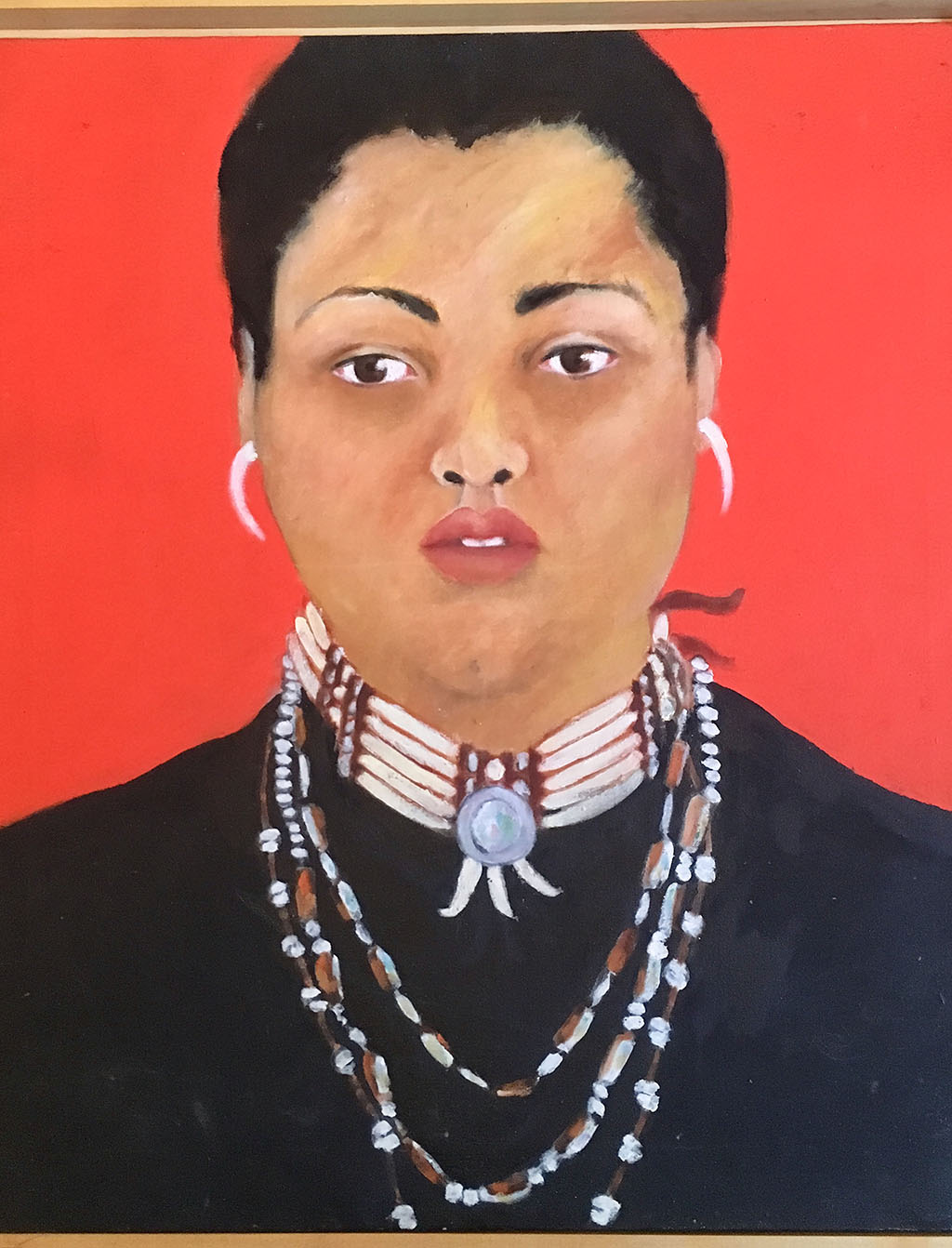 Red Me, oil paint on canvas (1998)