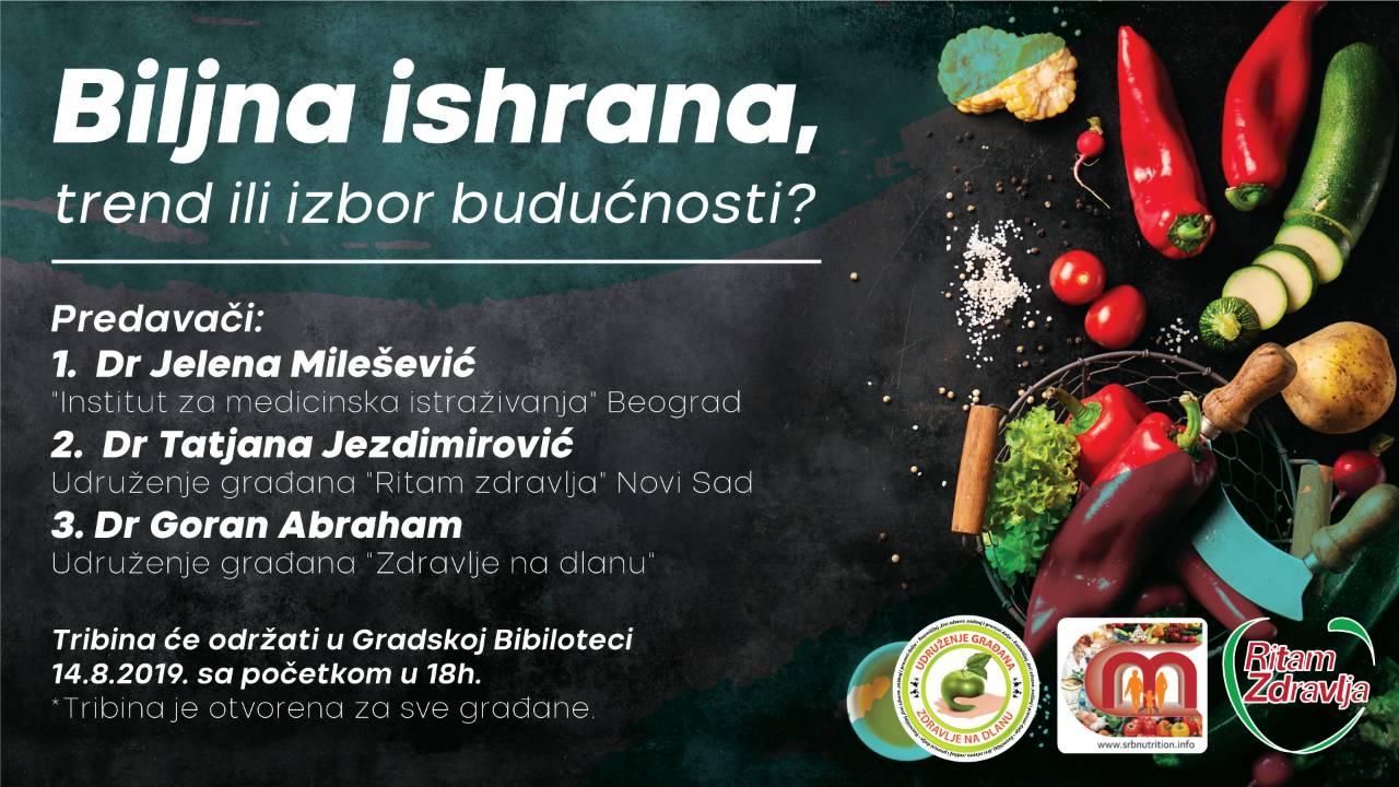 """Ritam zdravlja na tribini """"Biljna ishrana, trend ili izbor budućnosti"""""""