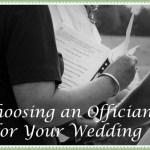 Choosing an Officiant
