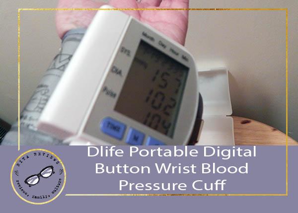 Dlife Portable Digital Button Wrist Blood Pressure Cuff