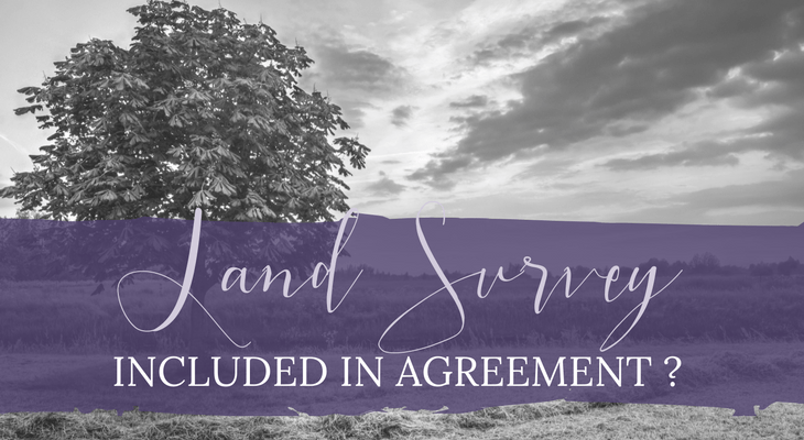 Is a Land Survey Usually Included in an Agreement with a Contractor?