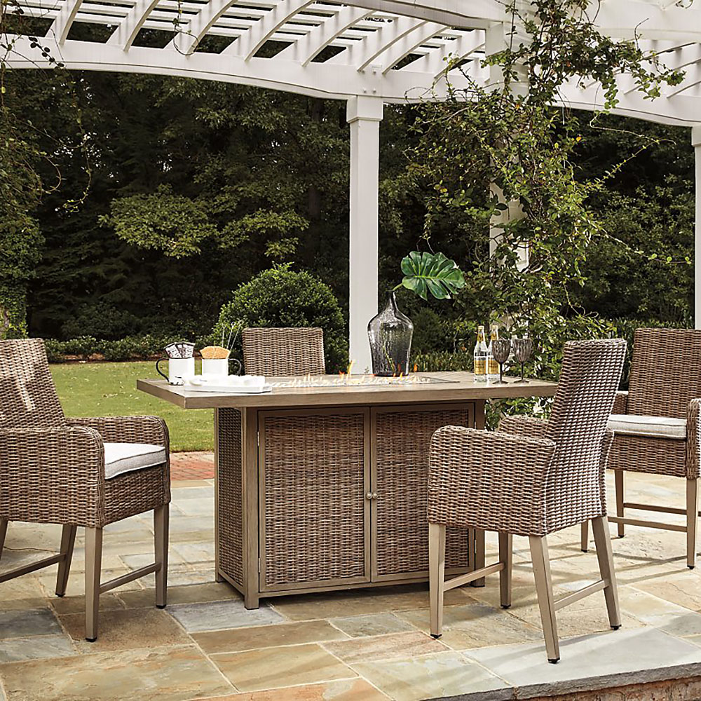 ashley beachcroft outdoor bar table set