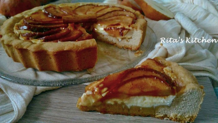 crostata ricotta e pere