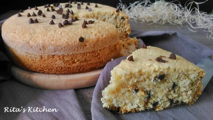 torta al cocco e gocce di cioccolato senza glutine