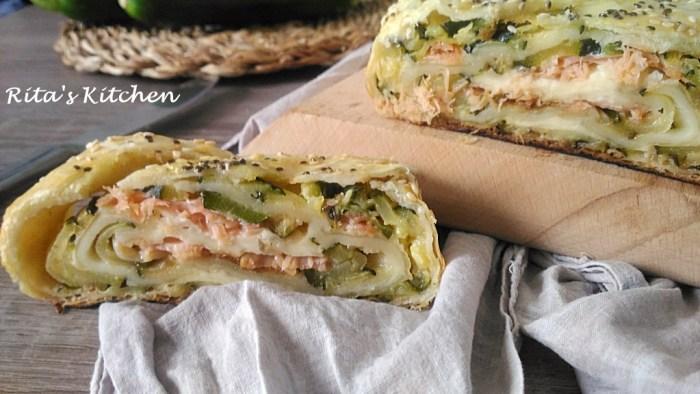 rotolo salmone e zucchine