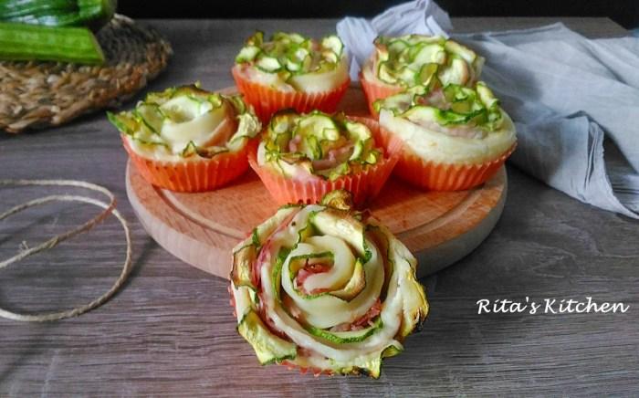 rose di sfoglia con zucchine