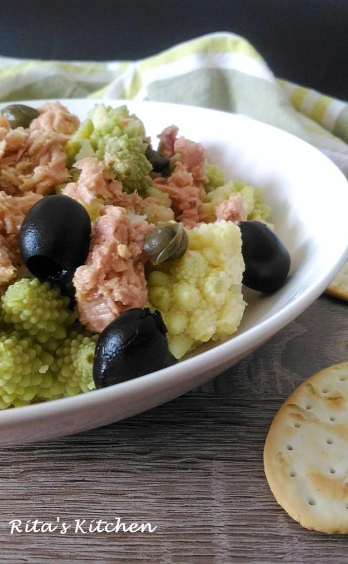 insalata di broccolo e tonno