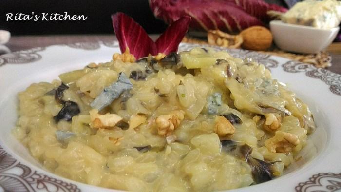 risotto al radicchio e gorgonzola