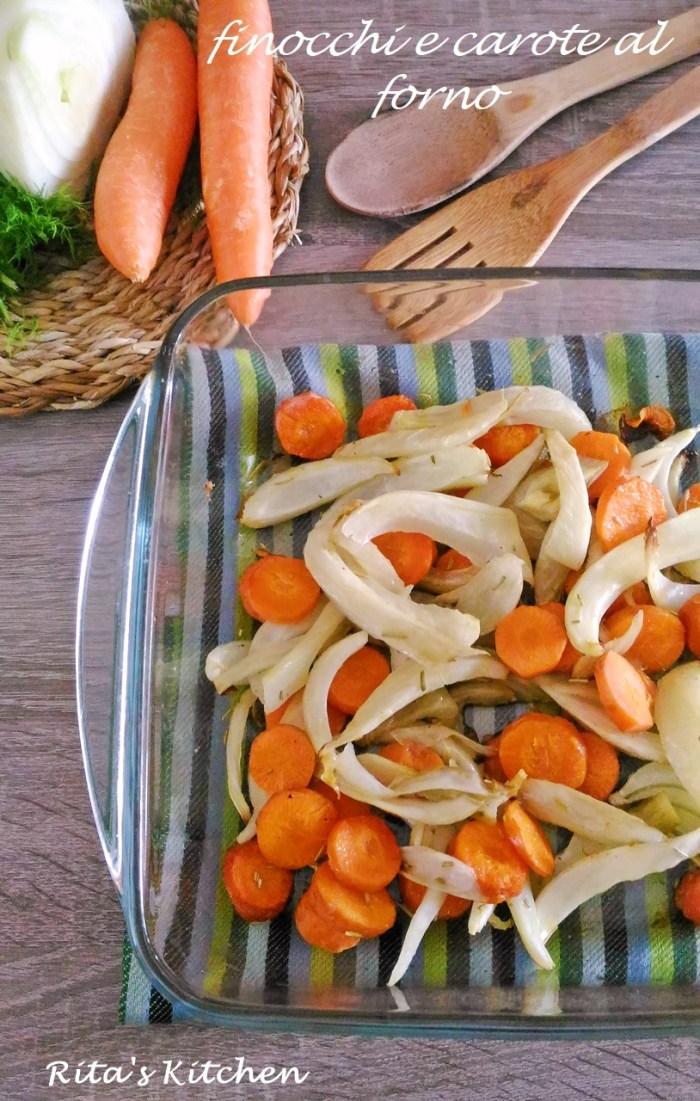 finocchi e carote al forno