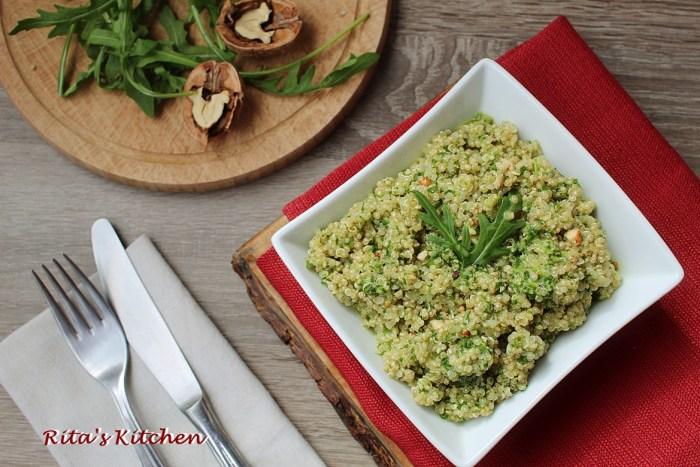 quinoa al pesto di rucola