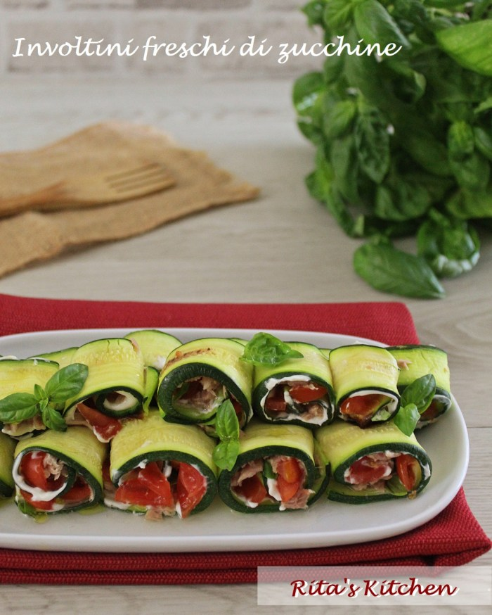 involtini freschi di zucchine